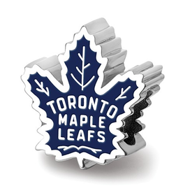 NHL Licensed NHL Licensed Toronto Maple Leafs Enameled Sterling Silver Bead