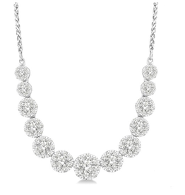 14K White Gold 2.00ct Diamond Necklace