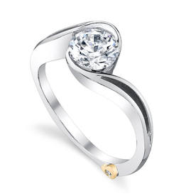 Mark Schneider Mark Schneider White Gold Aerial Diamond Mount Ring