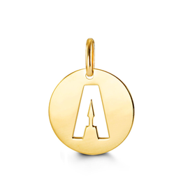 Yellow Gold Initial A Charm Pendant