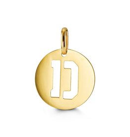 Yellow Gold Initial D Charm Pendant
