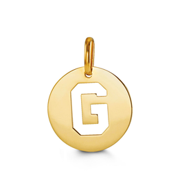 Yellow Gold Initial G Charm Pendant