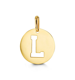 Yellow Gold Initial L Charm Pendant