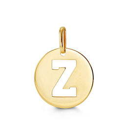 Yellow Gold Initial Z Charm Pendant