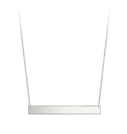 Bar Necklace 10K White Gold