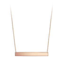 Bar Necklace 10K Rose Gold