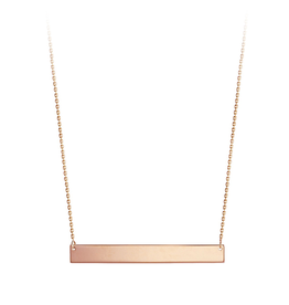 Rose Gold Plain Bar Necklace