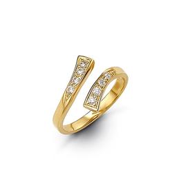 10K Yellow Gold CZ Pavee Set Toe Ring