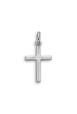 10K White Gold Religious Cross Pendant