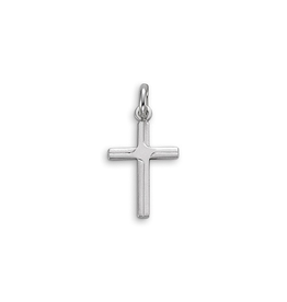 White Gold Plain Cross Pendant