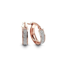Rose Gold Italian Glam Hoop Earrings (15mm)