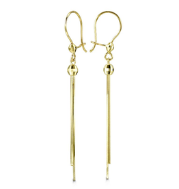 10K Yellow Gold Dangle Earrings
