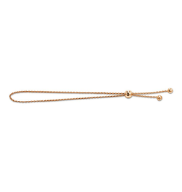 Rose Gold Adjustable Bolo Bracelet