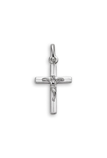 White Gold Crucifix Pendant