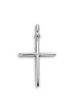 White Gold Plain Cross Pendant