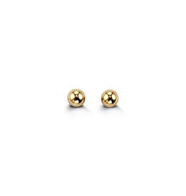 14K Yellow Gold (3mm) Ball Baby Earrings