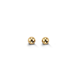 Yellow Gold Ball Baby Studs