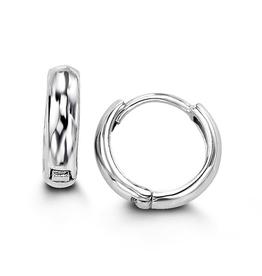 Sterling Silver Huggie Hoop Earrings 11mm