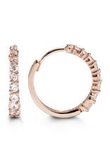 Rose Gold CZ Huggie Earrings (16mm)