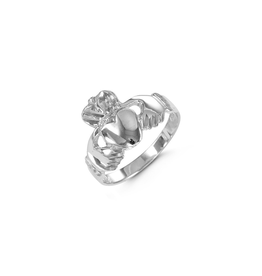 10K White Gold Claddagh Ring