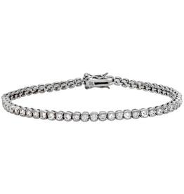 Silver CZ Rhodium Plated Tennis Bracelet