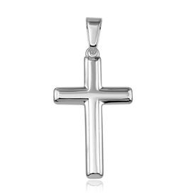 Sterling Silver Flat Cross Pendant