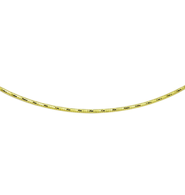 Sterling Silver Gold Plated Diamond Cut Omega Necklace