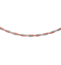 Sterling Silver and Rose plated Spring Omega Necklace