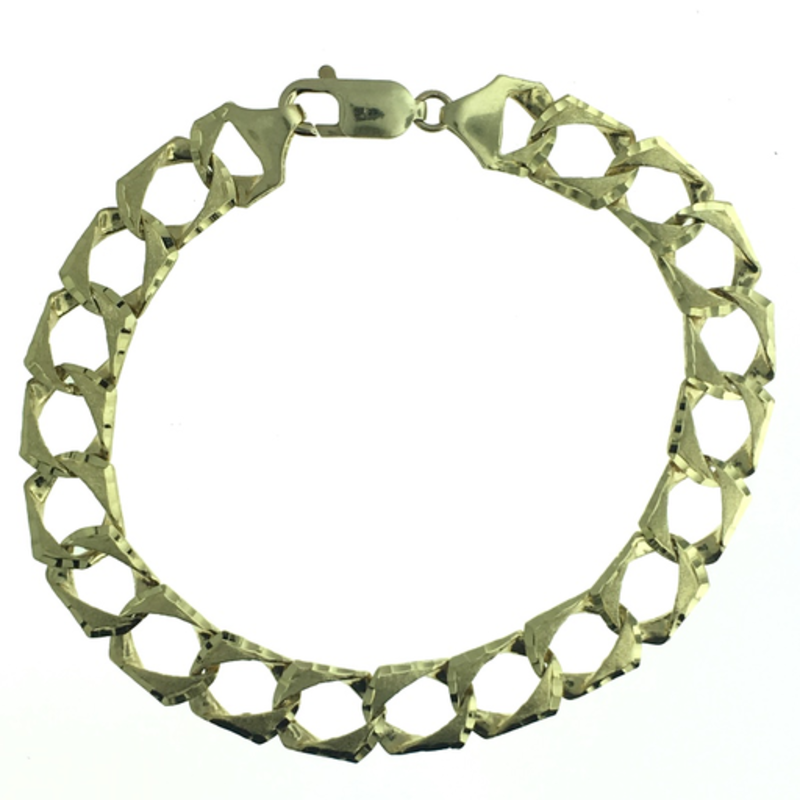 Yellow Gold Curb Bracelet (10mm) 8""