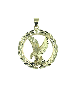 Yellow Gold Eagle Pendant