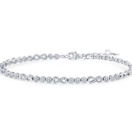 Silver CZ Infinity Rhodium Plated Tennis Bracelet