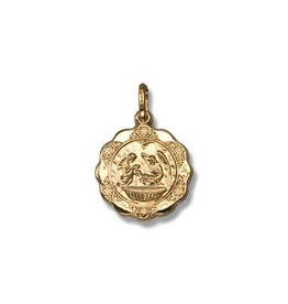 Yellow Gold Baptism Pendant