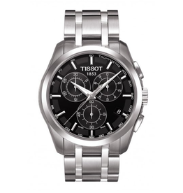 Tissot Tissot Couturier Chronograph Quartz Mens Black Dial Watch T0356171105100