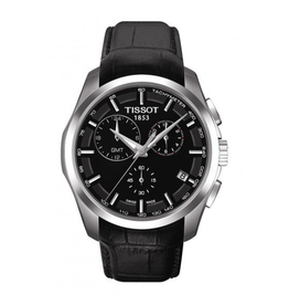 Tissot Tissot Couturier Chronograph Mens Black Strap Watch T0354391605100