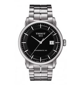 Tissot Tissot Luxury Automatic Mens Black Dial Watch T0864071105100
