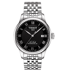 Tissot Tissot Le Locle Powermatic 80 Men's Silver Tone Black Dial Watch