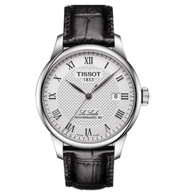 Tissot Tissot Le Locle Powermatic Mens Black Strap Watch T0064071603300