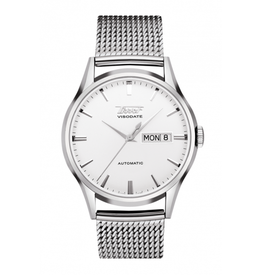 Tissot Tissot Heritage Visodate Automatic Men's Silver Tone Mesh Strap Watch