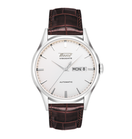 Tissot Tissot Heritage Visodate Automatic Men's Silver Tone Brown Leather Strap Watch