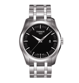 Tissot Tissot Couturier Quartz Mens Black Dial Watch T0354101105100