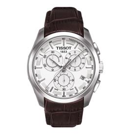 Tissot Tissot Couturier Quartz Chronograph men's brown leather Band Watch