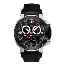 Tissot Tissot T-Race Mens Black Strap Watch T0484172705700