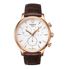 Tissot Tissot Tradition Mens Chronograph Watch with Brown Strap T0636173603700