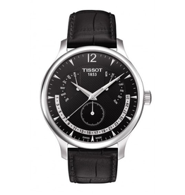 Tissot Tissot Tradition Perpetual Mens Black Leather Strap Watch T0636371605700