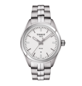 Tissot Tissot PR 100 Diamonds Silver Ladies Watch