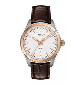 Tissot Tissot PR 100 Diamond Ladies Watch with Brown Strap