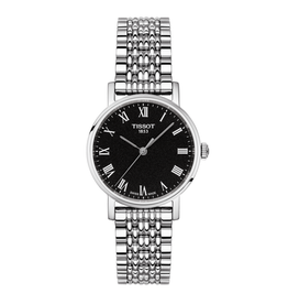 Tissot Tissot Everytime Silver with Black Dial Ladies Watch
