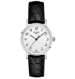Tissot Everytime Desire Quartz Black Leather Ladies Watch