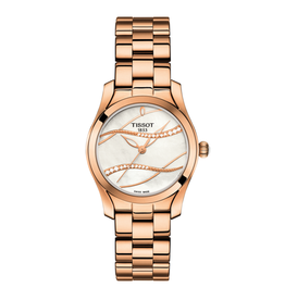 Tissot Tissot T-Wave II with Diamonds Ladies Rose Tone Watch
