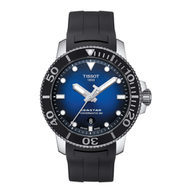 Tissot Tissot Seastar 1000 Powermatic 80 Men's Blue Dial Black Rubber Strap Watch Watch